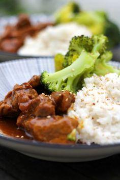 Aziatisch stoofvlees met kokosrijst