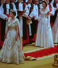 A young Queen during the Coronation ceremony