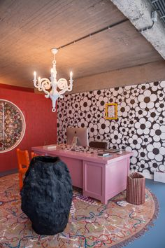 Studio Job opts for maximalism inside new Antwerp headquarters Staircase Contemporary, Contemporary Building, Contemporary Apartment, Contemporary Wallpaper, Rustic Contemporary, Contemporary Home Decor, Contemporary Bathrooms, Contemporary Architecture, Contemporary Chandelier