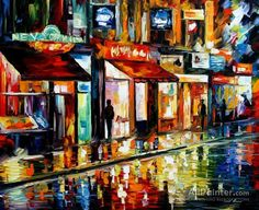 Leonid Afremov Old Pub oil painting reproductions for sale