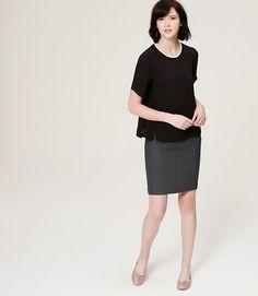 Primary Image of Petite Scuba Pencil Skirt