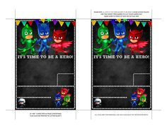 Agreeable Pj Masks Template Invitation Birthday Invites On Mask Card For Pj Mask Party Decorations, Party Themes, Party Ideas, Elephant Template, Free Baby Shower Printables, Party Frame, Birthday Invitations Kids, Invites, Free Invitation Templates