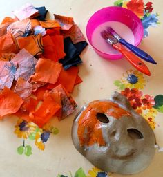 DIY craft Halloween masks via Toby & Roo :: daily inspiration for stylish parents and their kids.