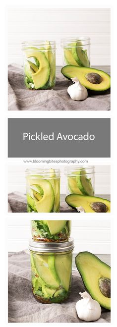 Pickled Avocado - If you're in need of a new delicious snack, these pickled avocados might just be what you're looking for. They are unique in flavor with hints of vinegar, cilantro, garlic, and crushed chili peppers.