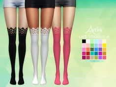 Lace Stockings • 30 Colors • Standalone & Custom Thumbnail • Teen to Elder Download Links under the cut! [[MORE]]DOWNLOAD #1: SimFileShare | Mediafire DOWNLOAD #2: SimFileShare | Mediafire