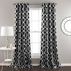 black and white curtains - Google Search