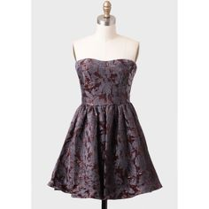 A Place To Dream Brocade Dress By MM Couture ($103) found on Polyvore