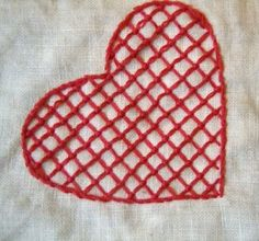 Hallandssom embroidery on 365 saker du kan slojda via Annekata hallandssöm 7 Embroidery Stitches, Embroidery Patterns, Heart Mirror, Swedish Embroidery, Couture, Beautiful Patterns, Needlepoint, Folk Art, Paisley