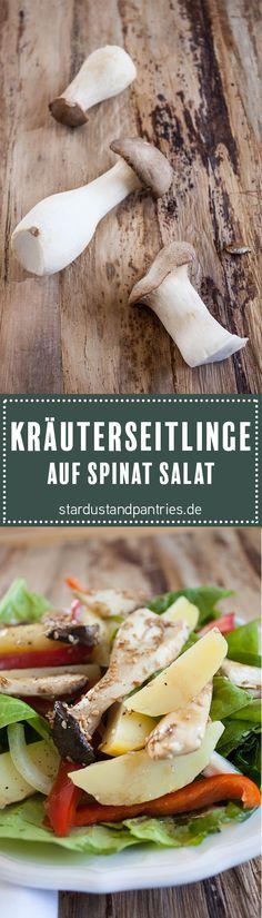 Kräuterseitlinge sind ganz unkompliziert in der Zubereitung und passen sehr gut zum Spinat-Kartoffel-Salat! Glutenfreier und veganer Sattmacher!