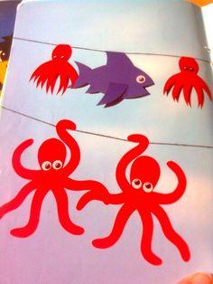 Papírové chobotničky k zavěšení