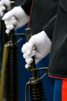A military salute.