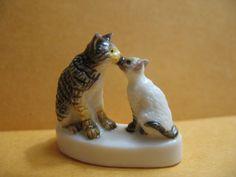 KISSING KITTENS Cats Cat Kitten Kitties  by ValueARTifacts on Etsy