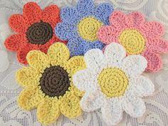 Ravelry: yarnpumpkin's Daisy Coasters