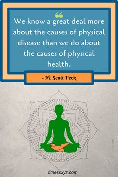 We know a great deal more about the causes of physical disease than we do about the causes of physical health. Motivation Psychology, Fitness Motivation, Best Motivational Quotes, Inspirational Quotes, Great Deals, At Home Workouts, Physics, Leadership, Believe