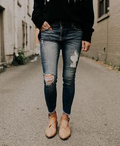 The Alistaire Fray Skinnies --- one of four new denim styles in the shop!