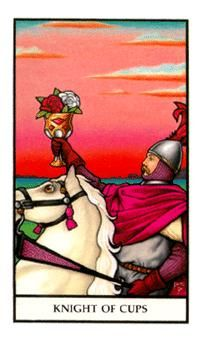 October 6 Tarot Card: Knight of Cups (Connolly deck) Follow your heart, follow your dreams. Your spirit is high and you're a magnetic force now