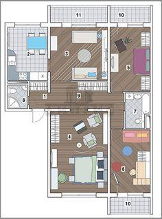 Типовые планировки - Дизайн интерьера квартир от «ДИПРИС» | Дизайн интерьера квартир от «ДИПРИС»