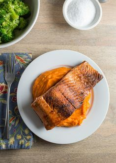 This easy dish is on the short list for weeknight meals that hit all my criteria: fast, healthy, filling, and killer good. Simply seasoned, the salmon is pan fried until the exterior is super crispy while the interior remains buttery soft.
