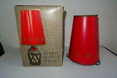 Finest Scotch Whisky Vat 69 Reklame Lampe Schirm Karton Mint Scotland