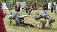 Modern Vikings playing and competing. ~ My brothers would love to do this type of Medieval game!