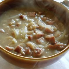 Super Easy Kielbasa Bean Soup Recipe | Just A Pinch Recipes {looks super easy!}