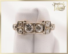 Items similar to Art Deco ~ Diamond Ladies Ring ~ Yellow Gold & Platinum ~ Genuine Old European Cut Diamonds ~ ~ ~ GIA ~ on Etsy Right Hand Rings, Art Deco Diamond, European Cut Diamonds, Gold Platinum, Diamond Cuts, Victorian, Jewels, Yellow, Trending Outfits