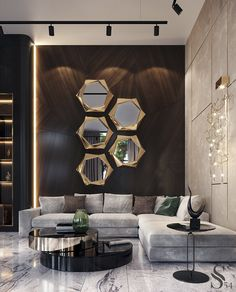 33 Amazing Luxury Living Room Designs Look Classy - Luxurious living room spells different to everyone but each of us has a common notion of what is luxurious and not. While some people's standards of l. Home Room Design, Luxury Interior Design, Luxury Home Decor, Living Room Designs, Contemporary Interior Design, Interior Modern, Living Room Interior, Living Room Decor, Luxury Living Rooms