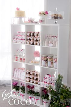 This would have to be one of the most beautiful Dessert tables ive seen,wow what a gorgeous Kitchen Tea (Bridal Shower) by Styled By Coco...