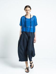 IOANNA KOURBELA TOP DIAPHANOUS 20326-12874 Shirt Blouses, T Shirt, Pants, Tops, Women, Fashion, Supreme T Shirt, Trouser Pants, Moda