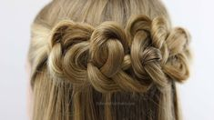 Need a beautiful prom hairstyle or have a special occasion coming up? Try this simple daisy chain knots hairstyle from BabesInHairland.com #hair #hairstyle #knots #daisychain #halfup #updo #prom #homecoming #gorgeous