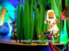 Its a Small World -Sing Along & Video (Disney Land Paris). gewoon heel de wereld op mijn dak...