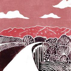 'Pillars of Light' Original handmade print of the viaduct found along Waterford greenway