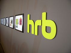 New, bright, logo hanging on our wall. #HRB
