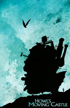 Howl's Moving Castle     http://wondersofghibli.tumblr.com/post/16217156575/minimalmovieposters-howls-moving-castle-by