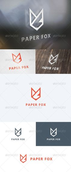 Paper Fox  Logo Design Template Vector #logotype Download it here: http://graphicriver.net/item/paper-fox-logo/5624620?s_rank=20?ref=nexion