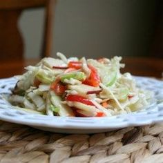 Photo of Easy Apple Coleslaw by Aunt Mamie Side Dishes For Ribs, Best Side Dishes, Side Dish Recipes, Dinner Recipes, Apple Coleslaw, Apple Salad, Granny Smith, Slaw Recipes, Healthy Recipes