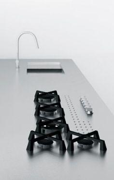 Exactly the idea for 113 Minimal USA Cocinas Kitchen, Kitchen Hob, Kitchen Black, Veneer Door, Wood Veneer, Minimal Kitchen, Minimal Living, Custom Countertops, Architecture Design