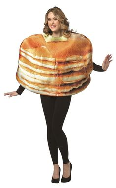 GET REAL STACKED PANCAKES funny mens womens unisex halloween food costume #RastaImposta #TopsShirts