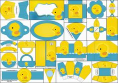 Patitos de Goma: Kit para Fiestas para Imprimir Gratis.