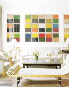26 color studies by German artist Gunther Forg.  Photography by William Waldron. Elle Decor (December 2006).