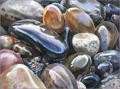 Image result for watercolour stones
