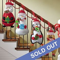 Christmas Pouch Pals Stocking - Imagine how thrilled your little ones will be to see their festive friends filled with Christmas treats just for them! Send Christmas Pouch Pals Stocking and other personalized gifts at Personal Creations. Decoration Christmas, Diy Christmas Ornaments, Xmas Decorations, Christmas Sewing, Noel Christmas, Christmas Kitchen, Christmas Projects, Holiday Crafts, Holiday Decor
