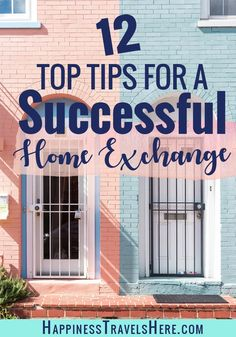 Home Exchange or House swapping is a great way to get free accommodation and explore new places around the world. Follow these 12 top tips to make your first home exchange a success. Budget Travel | Travel Hacking| #traveltips