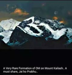 Famous Om Parvat at Uttarakhand! The Holy Mountain, Sacred Mountain, Om Namah Shivaya, Kailash Mansarovar, Om Art, Shiva Wallpaper, Lord Shiva, Gods And Goddesses, Sacred Geometry