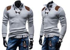 COMEOR 4302 - BIAŁY BIAŁY | On \ Swetry męskie | Denley - Odzieżowy Sklep internetowy | Odzież | Ubrania | Płaszcze | Kurtki