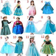 Vestido congelados Disney Elsa Anna princesa crianças Festa À Fantasia Cosplay Rainha Da Neve