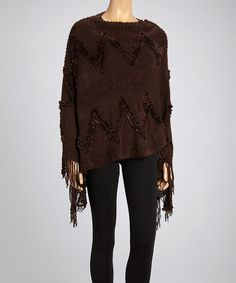 Take a look at this Dark Chocolate Textured Poncho on zulily today!