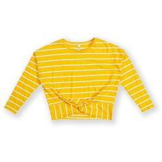 Put a spin on a classic with the K-D Tie Front Tee. Made from a comfy cotton material, this tee features long sleeves, a striped pattern and a front tie detail. Our Girl, Tie, Yellow, Chloe, Sweaters, T Shirt, Shopping, Birthday, Girls