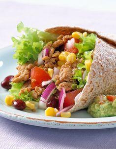Fullkornswrap med svinekjøttdeig Tacos, Food And Drink, Ethnic Recipes, Wraps, Healthy Dinners, Foods, Clean Dinners, Food Food, Rap