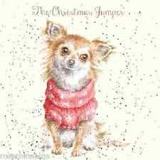 Wrendale Designs Christmas Card NEW The christmas jumper dog chihuahua